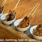 4 vier soorten sateh javaans eetcafe
